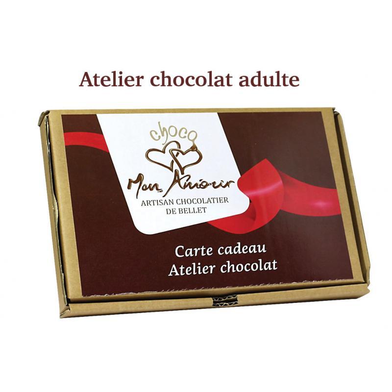 Carte cadeau: atelier chocolat adulte