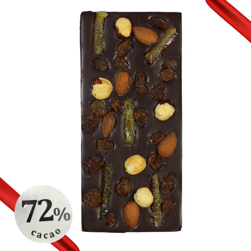 tablette noire fruits secs