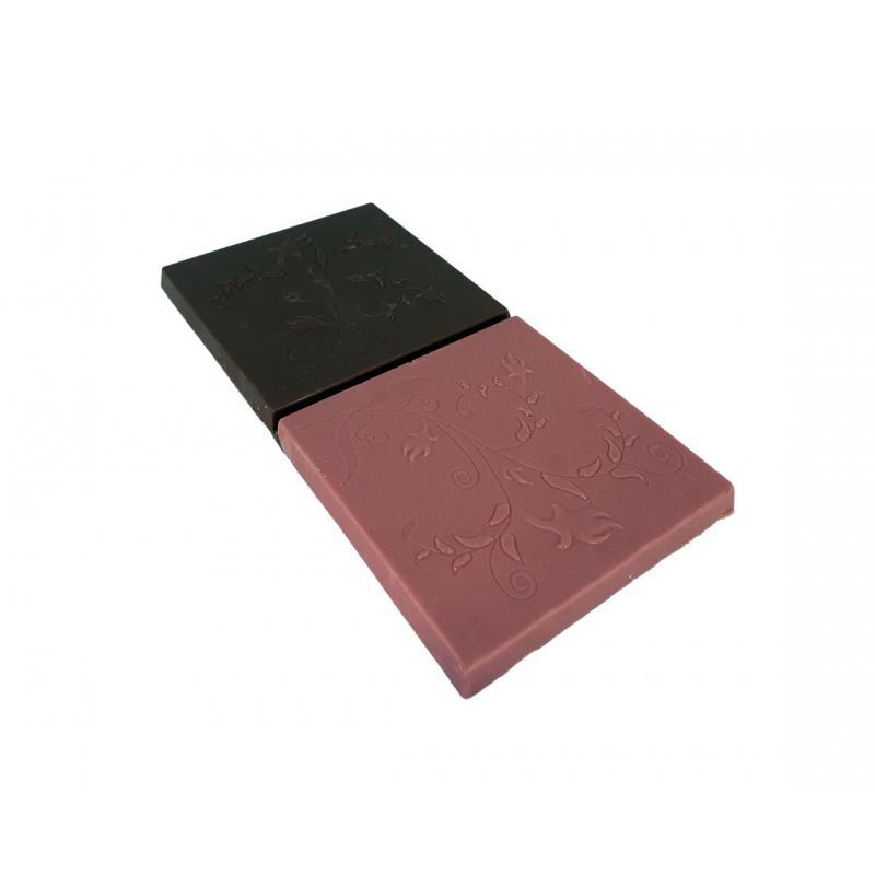 Tablette chocolat ruby - noir 72%