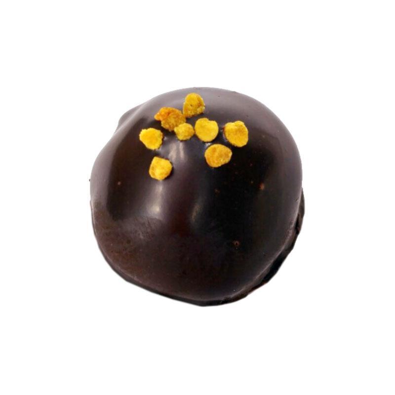 Miel de lavande de Valensole et pâte d'amande enrobés de chocolat noir 72% pur beurre de cacao