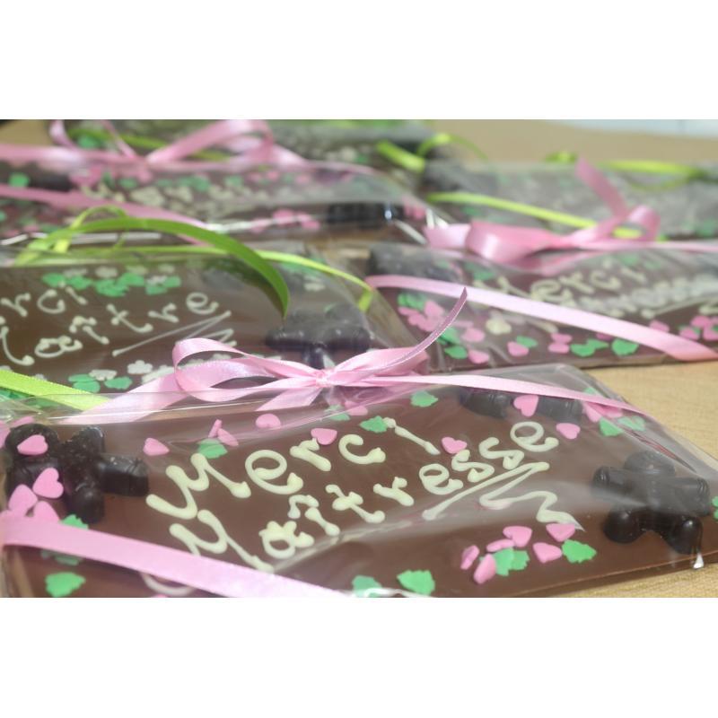 cartes de voeux chocolat